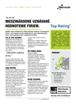 TOP RATING® | Produktový list