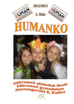 Humanko 2012/2013 - Súkromná škola HUMAN