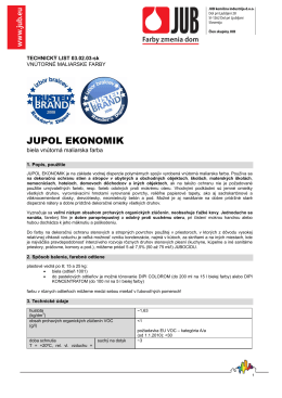 Technický list Jupol ekonomik