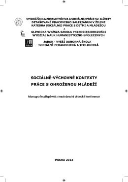 Sociálny pedagóg a sociálno-preventívna činnosť vo vzťahu k