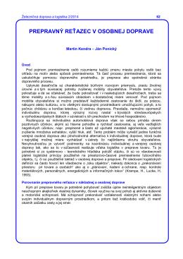 Martin Kendra - Ján Ponický - Fakulta prevádzky a ekonomiky