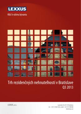 Trh rezidenčných nehnuteľností v Bratislave Q3 2013