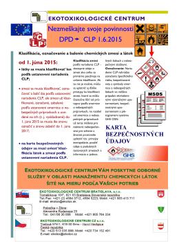 Nezmeškajte svoje povinnosti DPD CLP 1.6.2015
