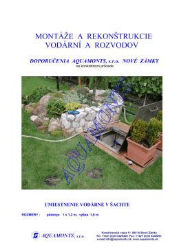 OPRAVA A MONTÁŽ VODÁRNI (PDF verzia)