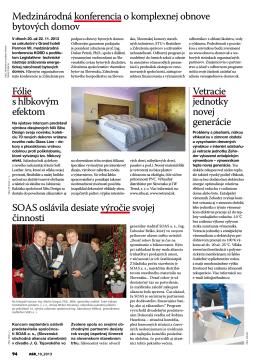 Medzinárodná konferencia o komplexnej obnove bytových domov