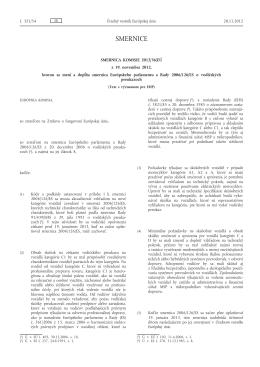 Smernica Komisie 2012/36/EÚ z 19. novembra 2012, ktorou