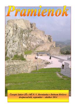 Časopis žiakov ZŠ s MŠ P. V. Rovnianka v Dolnom Hričove