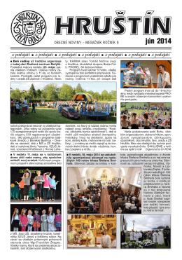 jún 2014 - Obec Hruštín