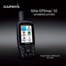 Séria GPSmap® 62