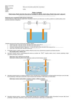 Úlohy a príklady - elektrostatika