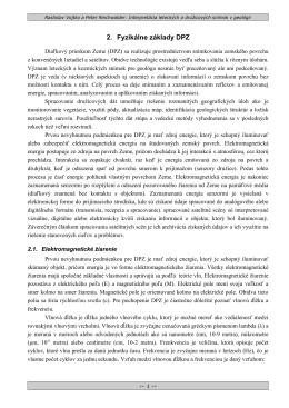 2. Fyzikálne základy DPZ