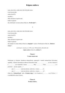 Kúpna zmluva na pozemok (pdf)