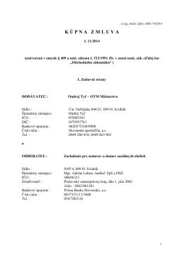 Kúpna zmluva 11/2014