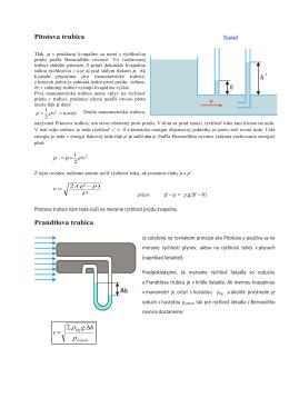 Aplikácie Bernoulliho rovnice