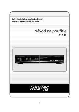 SkyTec HD 110 IR manual SK