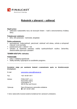 Robotník v zlievarni - odlievač (.pdf)