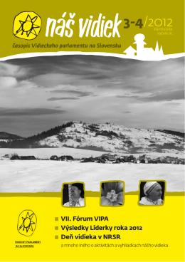 Náš vidiek 3-4_2012.pdf - Vidiecky Parlament
