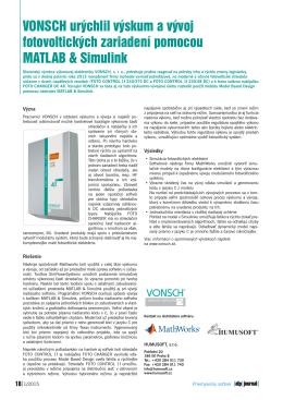 VONSCH urýchlil výskum a vývoj fotovoltických