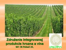 Tamašek: Združenie integrovanej produkcie hrozna a vína