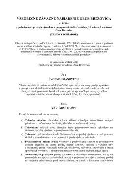 1-2014 o podmienkach predaja výrobkov a poskytovaní