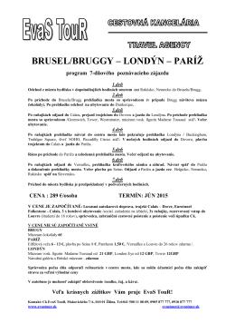 Londýn - Brusel