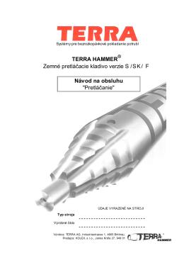 TERRA HAMMER Zemné pretláčacie kladivo verzie S