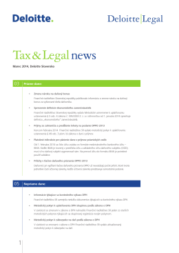 Tax & Legal news