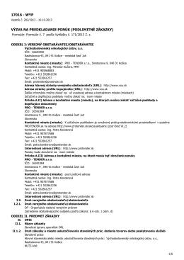 17016 - wyp výzva na predkladanie ponúk (podlimitné zákazky)