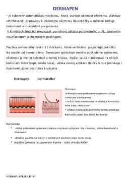 stiahnite si informačný materiál o Dermapen terapii