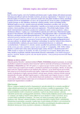 Základy logiky ako súčasť vzdelania