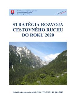 stratégia rozvoja cestovného ruchu do roku 2020
