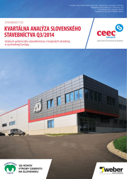 Kvartálna analýza slovenského stavebníctva Q3/2014
