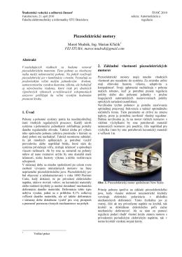 Piezoelektrické motory