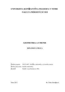 univerzita konštantína filozofa v nitre geometria a umenie