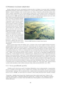 4.2 Prirodzený vývoj koryta vodných tokov