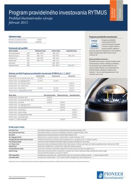 Aktuálne informácie - Pioneer Investments