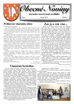 noviny január 2013