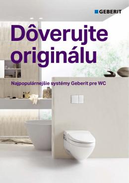 Najpopulárnejšie systémy Geberit pre WC