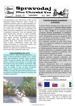 Spravodaj č. 03/2013
