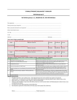 výmenný/ reklamačný formulár – stiahni pdf