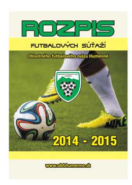 Stiahnúť RS 2014/2015 - Oblastný futbalový zväz Humenné