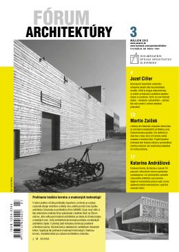 Fórum architektúry_3-2013.pdf - Spolok architektov Slovenska