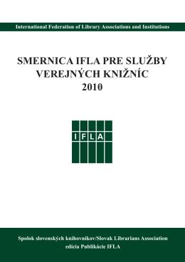 Smernica IFLA pre služby verejných knižníc 2010