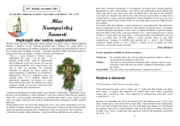 November 2011.pdf - Farnosť KROMPACHY