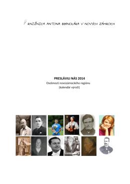 PRESLÁVILI NÁS 2014 - Knižnica Antona Bernoláka