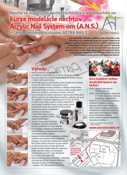 Kurz Modelovanie nechtov – Acrylic Nail System