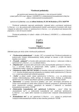Všeobecné zmluvné podmienky FriNet