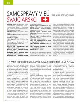 KLIMOVSKÝ, Daniel (2013): Samosprávy v EÚ: Švajčiarsko