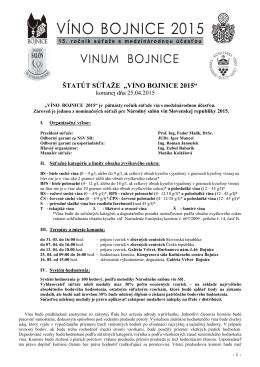 Víno Bojnice 2015