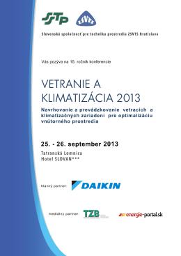 VETRANIE A KLIMATIZÁCIA 2013 - Energie